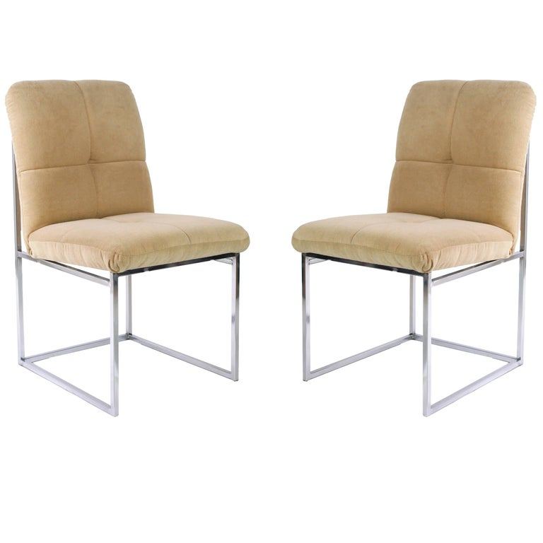 Pair of Cal-Style Side Chairs For Sale