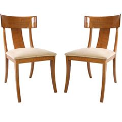 Pair of Modern Klismos Chairs by Pietro Constantini for Ello