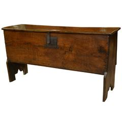 17th Century Oak Six Plank Coffer