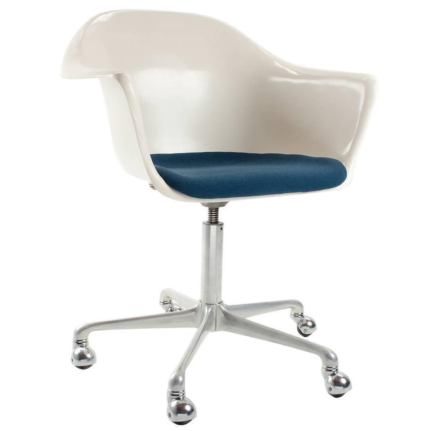 1960s rare german fiberglass swivel desk chair by k sch fer for