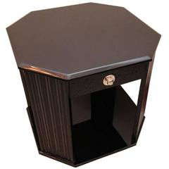 1930s Art Deco Side Table with Drawers