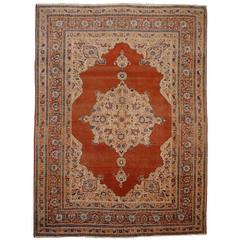 Antique Persian Rug Tabriz Hadj Jalili Type