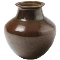 Elegant and Rare Porcelain Vase by Robert Deblander, circa 1980-1990