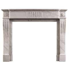 Louis XVI Style Fireplace in Carrara Marble