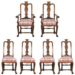 19th Century Set of Six Continental Provincial Dining Chairs