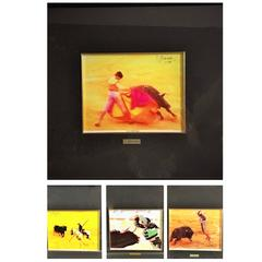 Barenca, 1994, Spain.,Set of Four Lithography about Bull Fight