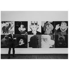 "Robert Levin, ""Andy Warhol at R. Feldman Gallery with Myths, 1981"", USA, 2015"