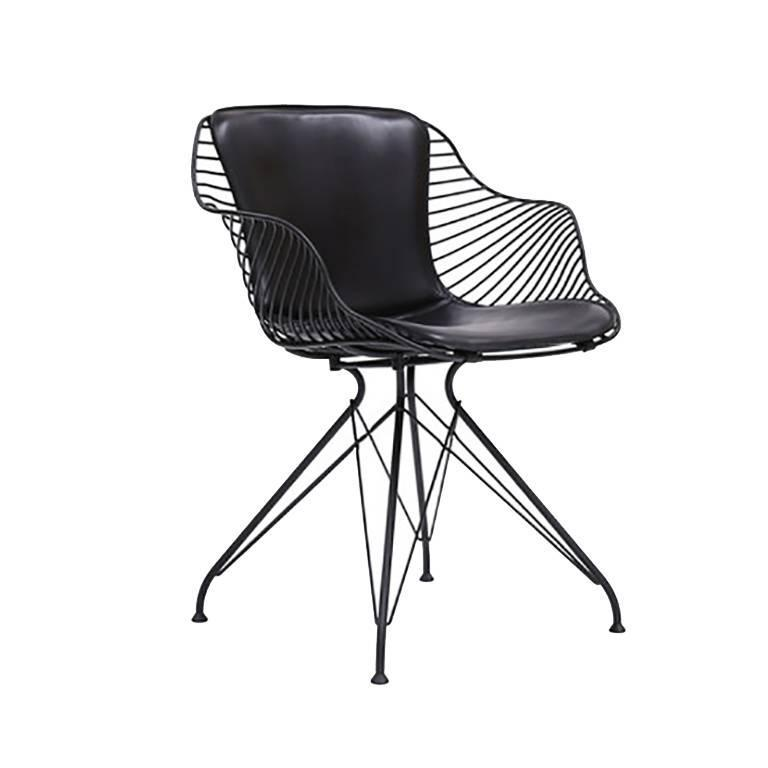 Wire dining chair by overgaard and dyrman for sale at 1stdibs for Black mesh chaise lounge