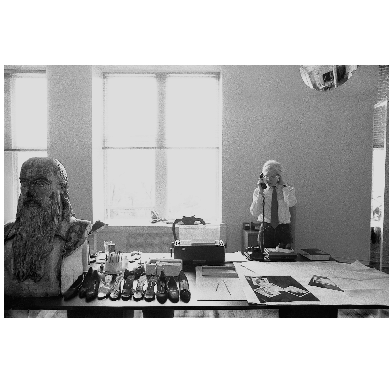 "Robert Levin, ""Andy Warhol Bust, Halston Shoes, 1981,"" Framed Print, US, 2015"