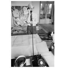 "Robert Levin, ""Andy Warhol on the Phone at Factory, NYC, 1981"" Print, USA, 2015"