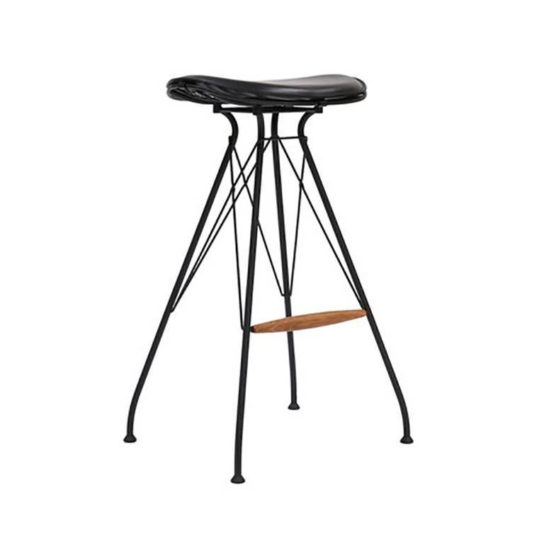 Wire Bar Stools | Mahogany Bar Stool For Sale At 1stdibs