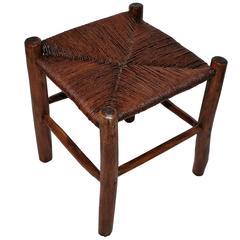 19th Century Handmade Hickory Stool or Bench