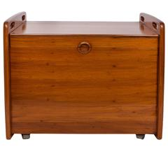 Sergio Rodrigues Brazilian Modern Bar Cart in Freijo Wood
