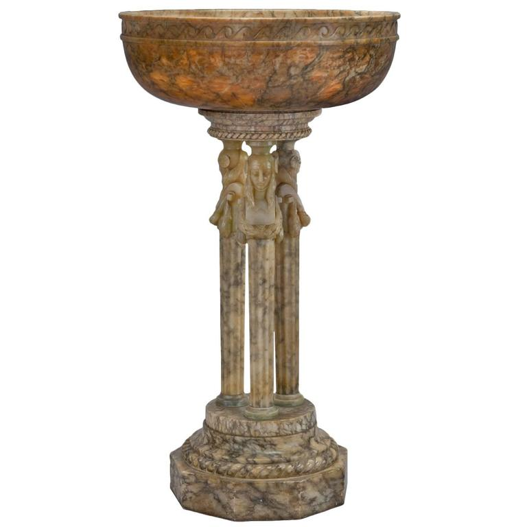 Monumental Early 20th Century Italian Alabaster Jardiniere