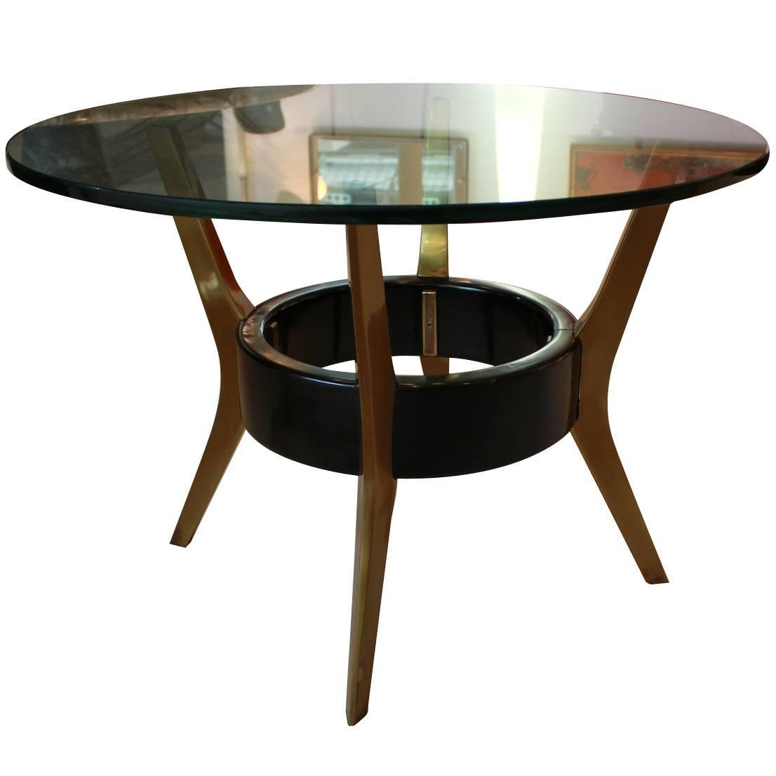 Fontana Arte Bronze And Glass Coffee Table From 1950s At 1stdibs