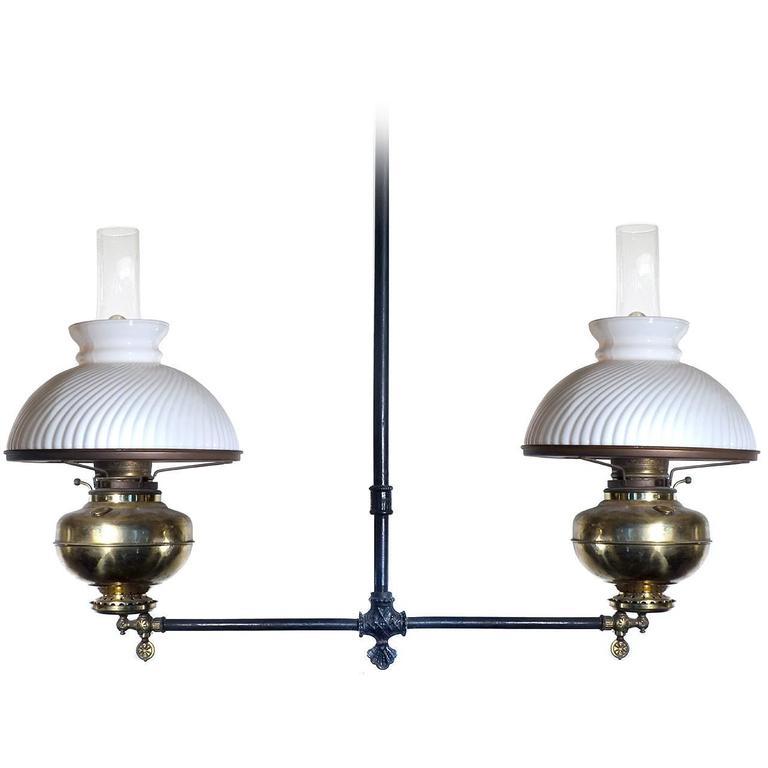 Original Double Gas Lamp At 1stdibs