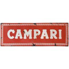 Italian Metal Campari Sign