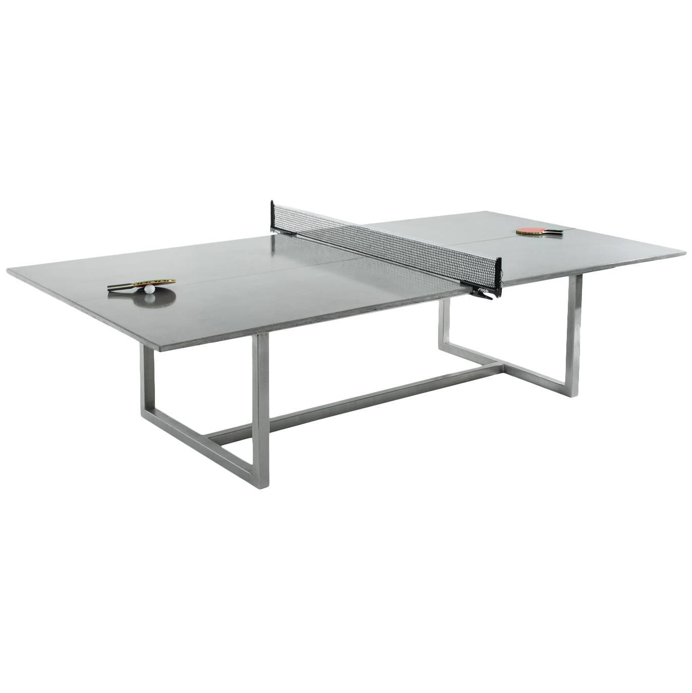 vue ping pong table with stainless steel base for sale at 1stdibs. Black Bedroom Furniture Sets. Home Design Ideas