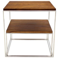 Chrome Cube Nesting End Side Table