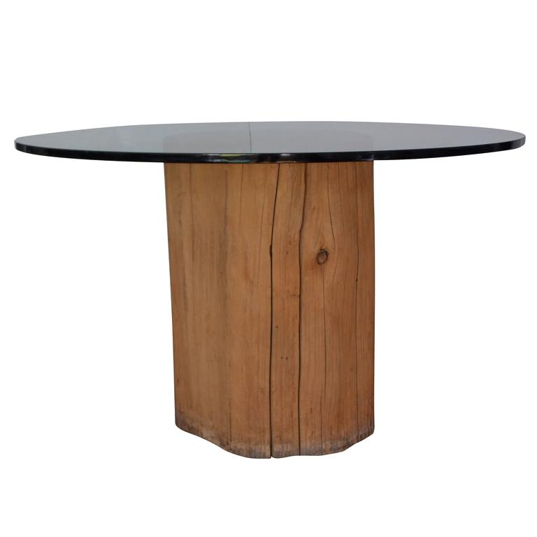 Michael taylor tree trunk dinette table at 1stdibs for Tree trunk dining table