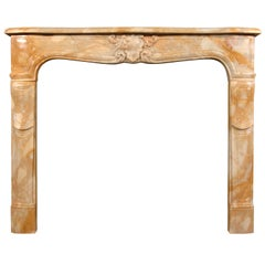 19th Century Louis XV Style Sienna Marble Fireplace