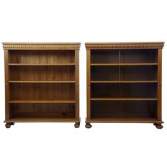 Pair of Early 20th Century Oak Open Bookcases