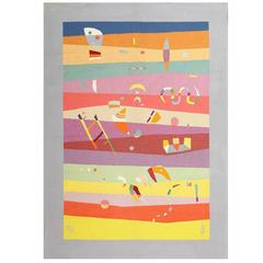 Vintage Tapestry Rug by Wassily Kandinsky