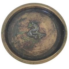 Just Andersen Bronze Dish or Plate, Signed