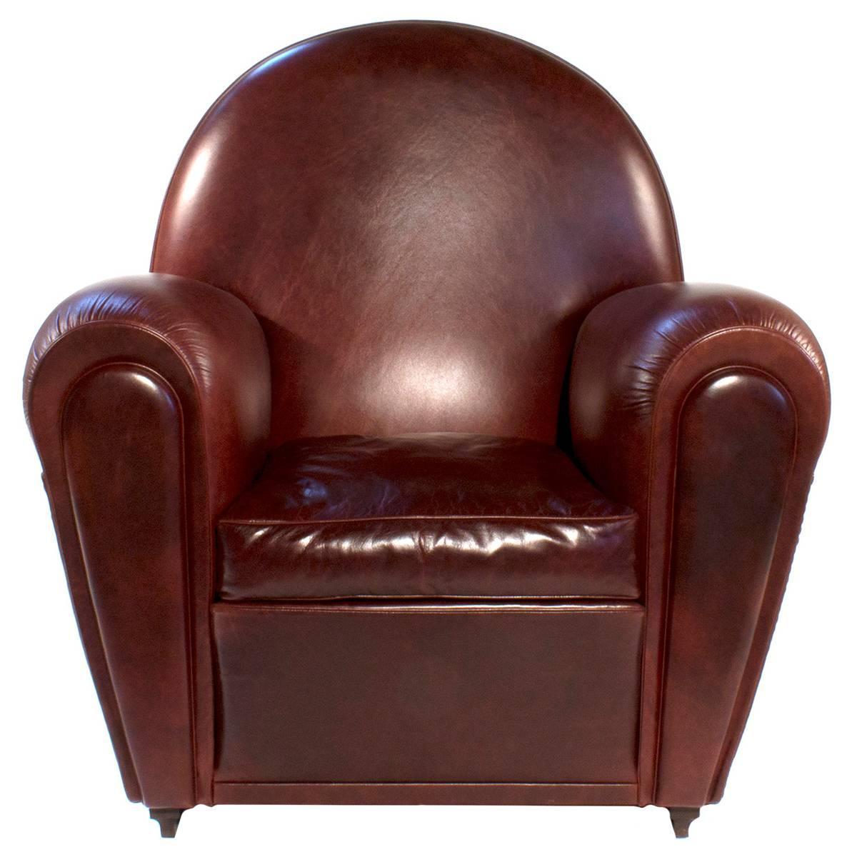 Vanity Fair Leather Lounge Armchair by Renzo Frau for Poltrona ...