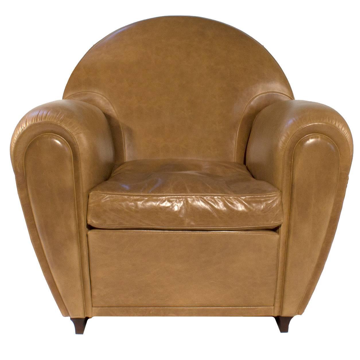 Leather New Age Lounge Armchair by Renzo Frau for Poltrona Frau ...