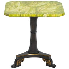 Faux Marble Classical Side Table