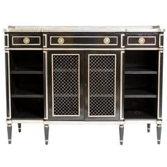 Lacquered 1940s Regency Style Credenza