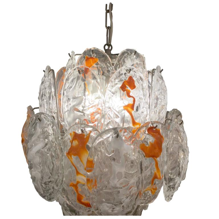 Murano Glass Shells Chandelier by Mazzega, 1960