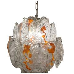 Murano Glass Shells Chandelier by Mazzega, 1960