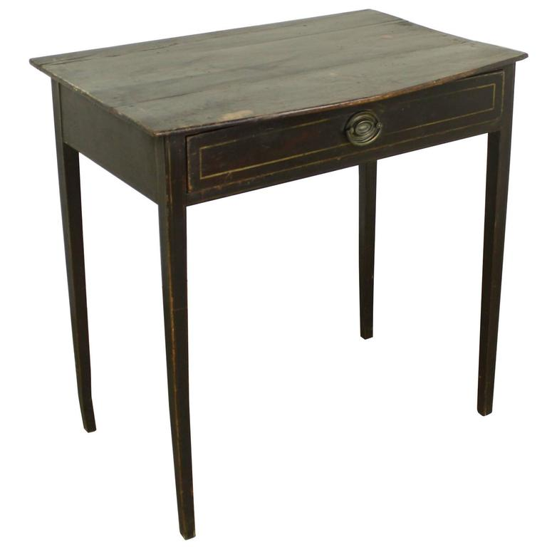 Regency Painted Side Table, Bowed Top