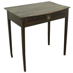 Regency Painted Side Table, Bowed Top