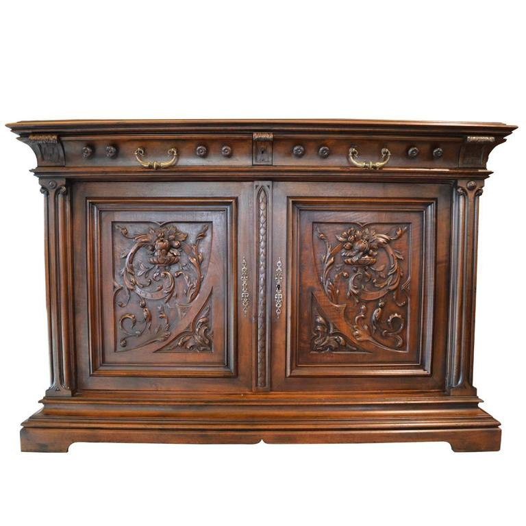 19th century french gothic style sideboard at 1stdibs. Black Bedroom Furniture Sets. Home Design Ideas