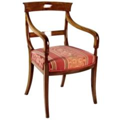 Louis Philippe French Mahogany Armchair