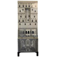 Piero Fornasetti, Cabinet Trumeau Architettura, Barnaba Edition.