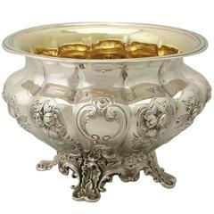 1830s Antique Victorian Sterling Silver Sugar Bowl