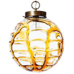 1960s One-of-a-Kind Yellow Pendant Attributed to Doria