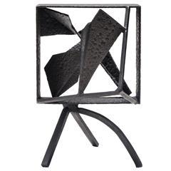 Schwarz bemalte kleine Eisen-Skulptur von Robert Jacobsen