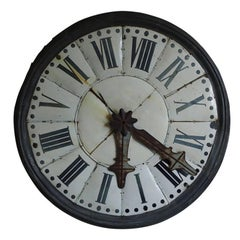 Large Industrial Antique French Clock Face