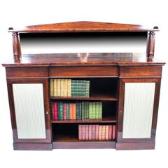 19th Century William IV Rosewood Chiffonier Open Bookcase