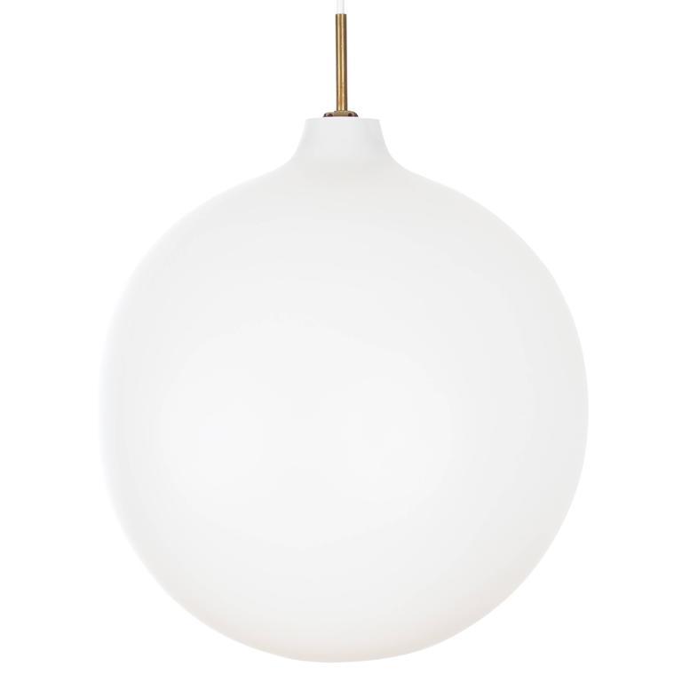 Danish Mid-Century Modern Pendant Light in Opal Model Wohlert For Sale