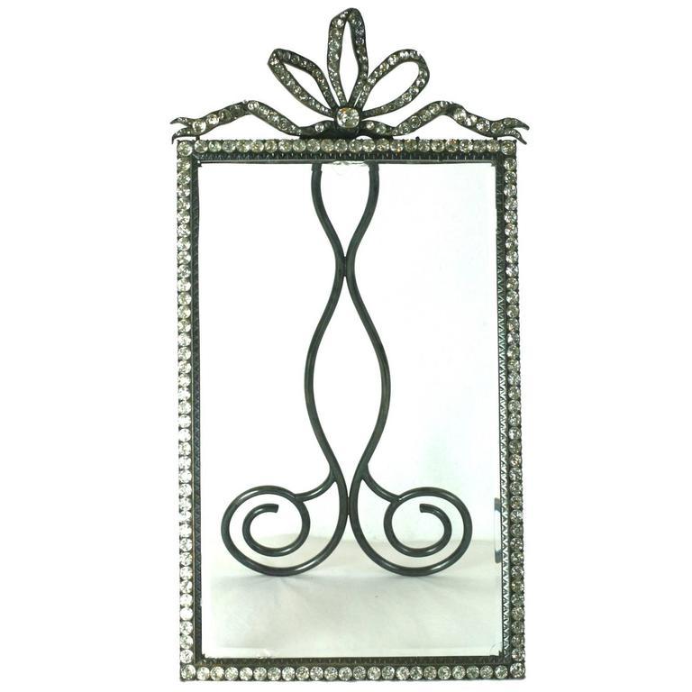 Wonderful Victorian Jeweled Paste Set Frame For Sale