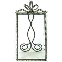 Wonderful Victorian Jeweled Paste Set Frame