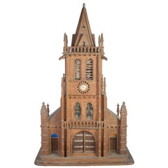 Painted Miniature Normandy Church
