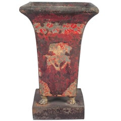 Red Directoire Tole Vase
