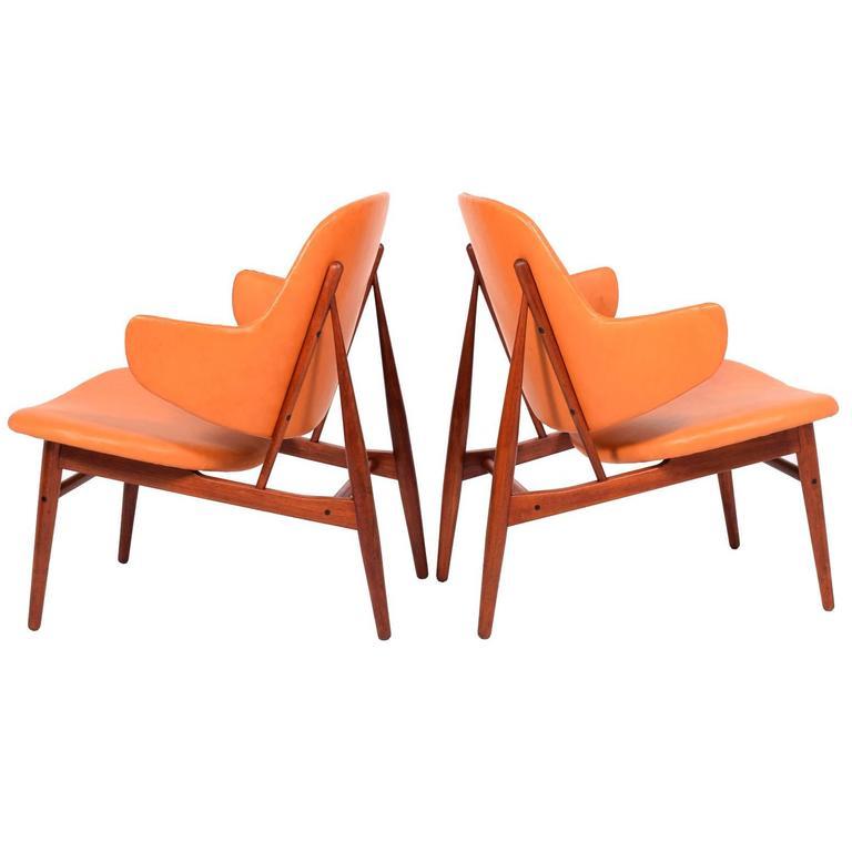 Pair of easy Chairs by Ib Kofod-Larsen for Christensen & Larsen